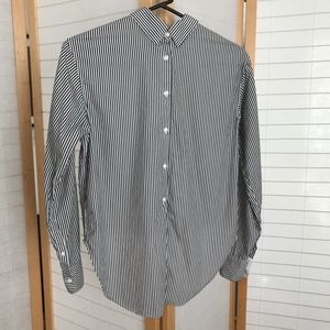 rag & bone striped shirt buttons back and front XS